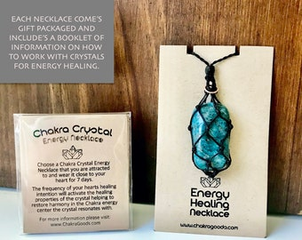 Apatite Throat Chakra Energy Healing Necklace