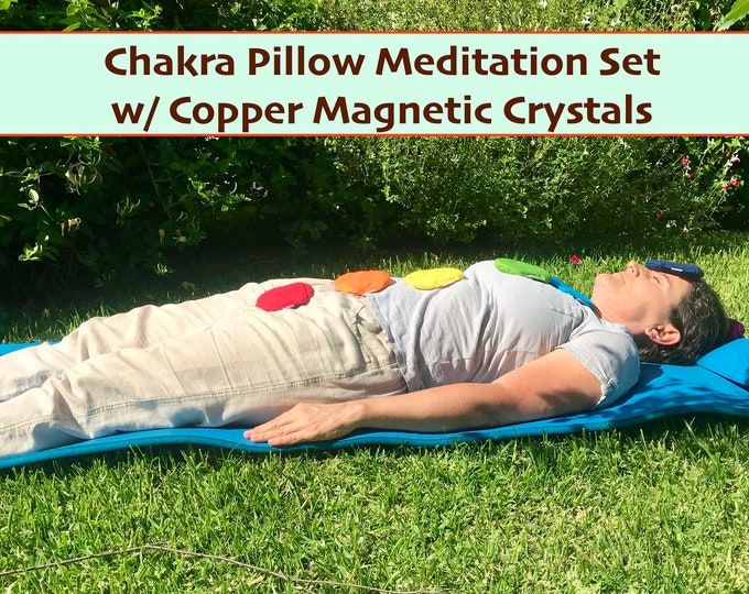Chakra Meditation Pillows with Copper Magnetic Crystals