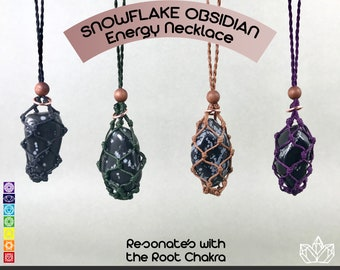 Snowflake Obsidian Root Chakra Activation Necklace
