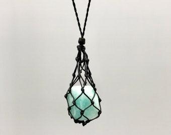 Amazonite Throat Chakra Energy Healing Necklace