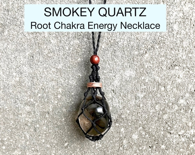 Smokey Quartz Root Chakra Energy Healing Necklace