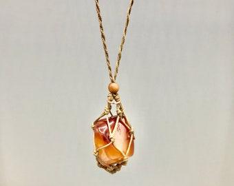 Fancy CARNELIAN Sacral Chakra Energy Necklace