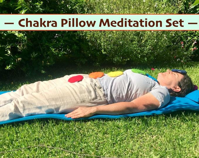 Chakra Meditation Pillows with Crystals