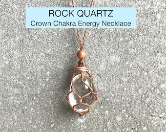 Quartz Crystal Chakra Energy Healing Necklace