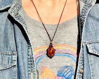 Carnelian Sacral Chakra Energy Healing Necklace