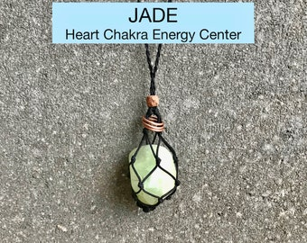Jade Heart Chakra Energy Healing Necklace