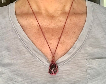 Garnet Root Chakra Energy Healing Necklace