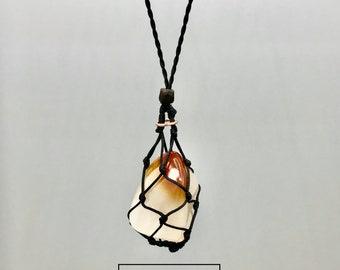 Fancy Carnelian Sacral Chakra Energy Healing Necklace