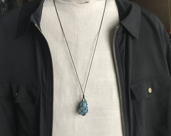 Aqua Marine (Blue Beryl) Energy Healing Necklace