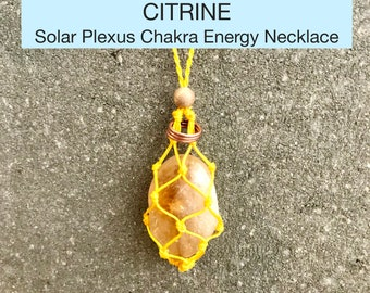 Citrine Solar Plexus Chakra Energy Healing Necklace