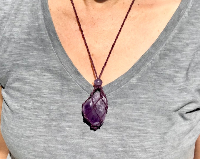 Amethyst Energy Healing Necklace