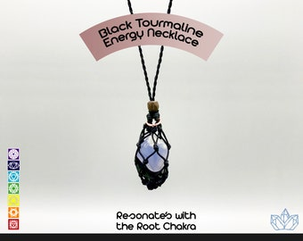 Black Tourmaline Energy Healing Necklace
