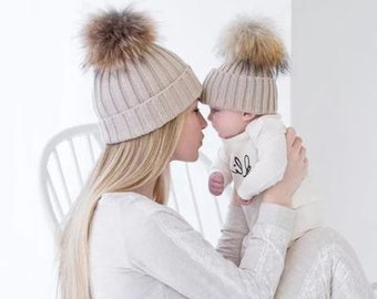 Matching Mom and Baby Beanies eb064088010
