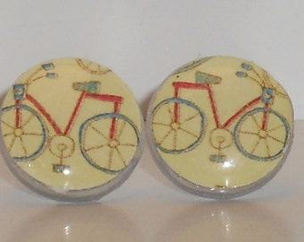 Bicyle Love Post Earrings