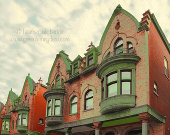 Parkside - Wall Decor - Fine Art Photography Print - Red Brick Houses, Victorian, Philadelphia