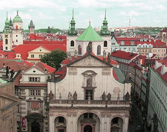 Prague Photography - Red Roofs - Beautiful Architecture - Rooftop - European Romantic Wall Decor - Art Print