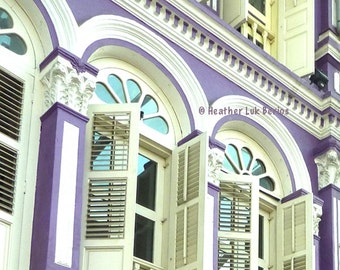 Singapore Photography - Purple Facade - Asia - Asian Fine Art Photography