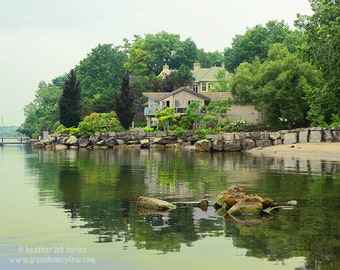 Cottage Photography - Wall Decor - Green Water Reflection Beautiful Canadian Landscape