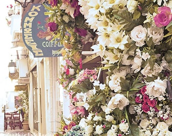 Beautiful Photography - Wall Decor - Fine Art Photography Print - Greece, Magenta, Pink, Green, Sephia, Flower