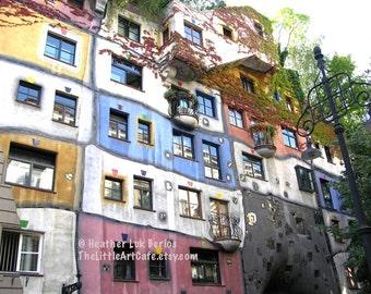 Vienna Photography - Hundertwasserhaus - Austrian Architecture - Wall Decor - Art Print