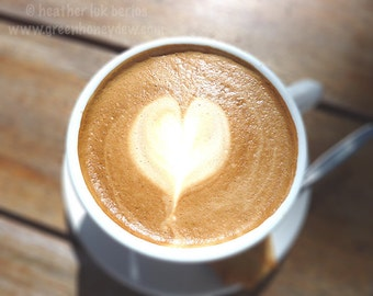 Cappuccino Heart- Wall Decor - Fine Art Photography Print