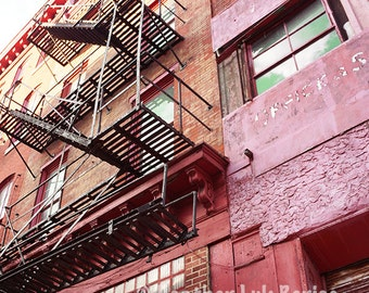 Trenton China Pottery - Wall Decor - Fine Art Photography Print - Red, Pink, Brick, Industrial, Philadelphia