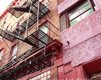 Trenton China Pottery - Wall Decor - Fine Art Photography Print - Red, Pink, Brick, Industrial, Philadelphia