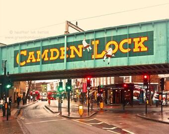 London Photography Camden Lock - Fine Art Contemporary Photography Print, England, Market, Shops, Street, People, Colourful, Vibrant, Urban