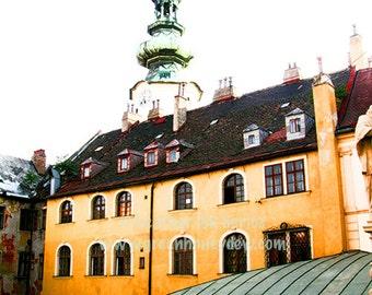 Bratislava Slovakia Photography - Yellow Building - Wall Decor - Art Print