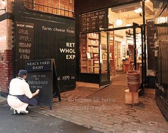 London Borough Market Photography - Wall Decor - Fine Art Photography Print - Local Cheese, Grocery, Artisan, Neal's Yard Dairy, Baron Bigod