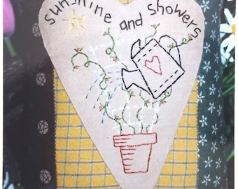 Bareroots March Pillow applique stitched pillow pattern dated 1998