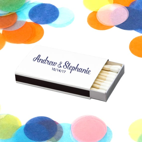 Personalized Matches Custom Wedding Favor Personalized Sparkler