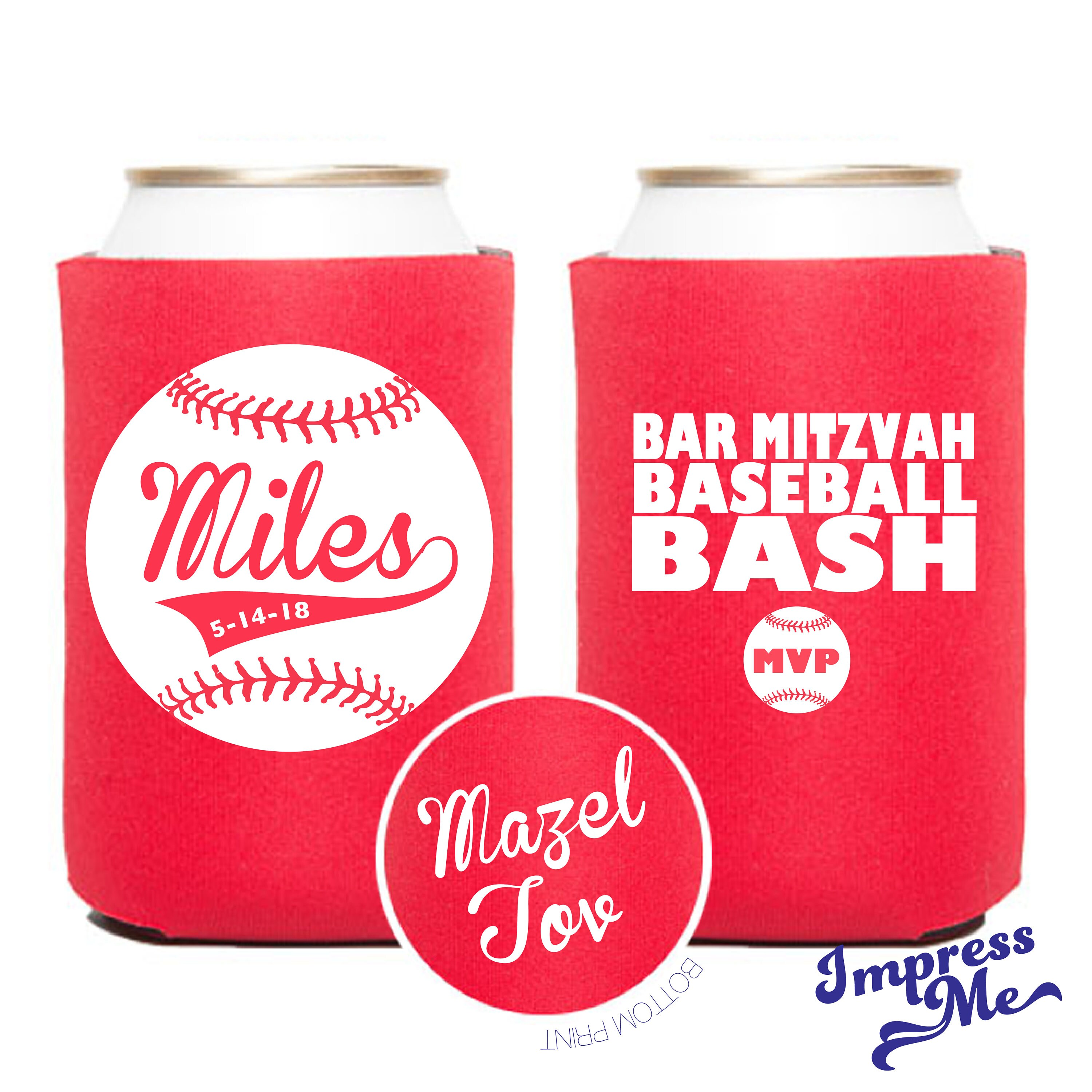 Custom Can Coolers Bar Mitzvah Party Favors Bar Mitzvah Drink   Etsy