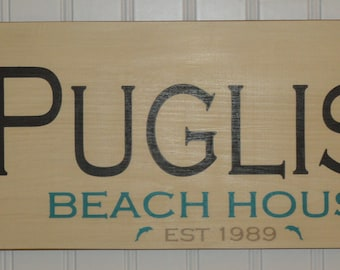 Personalized Beach House Family Sign, Beach Sign, Shore House Sign, Vacation Home Sign, Shore Sign