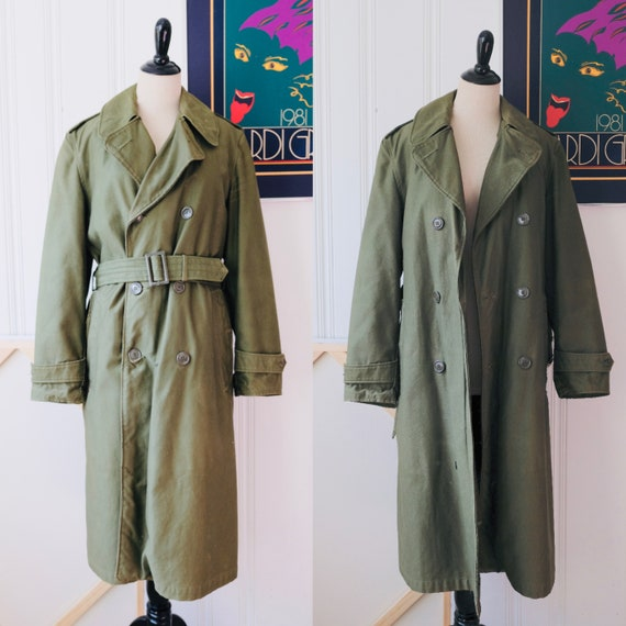 68 - 69 Vintage Army Issue Green US Military Army