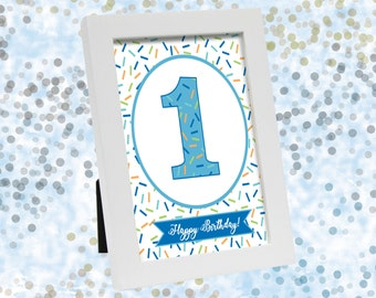 DIY Printable Blue Baby Sprinkle Party Signs Birthday Sign Shower Banner Sprinkles Theme Decoration Instant Download Boy 8x10