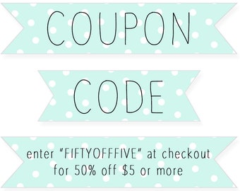 Coupon codes | Etsy