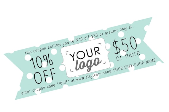 Minty Printable Coupon Personal Coupon Coupon Template | Etsy