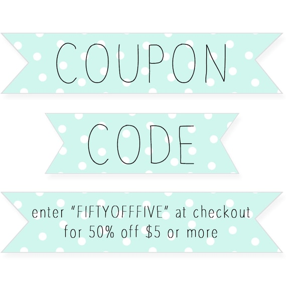 jewelry coupon code for etsy