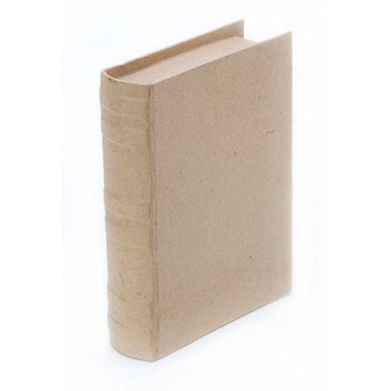 Paper Mache Book Box Large Size 3d Unfinished Craft Letter Shape Home Decor