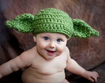 Yoda Hat, Star Wars, Ready to Ship, Yoda Costume, Baby, Child, Dobby, gifts, Beanie, Crochet, Adult, Kids, Toddler, Child, Hat, Girls, Boys