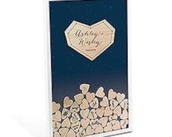Personalized Wedding Drop Box - Guest Book Alternative