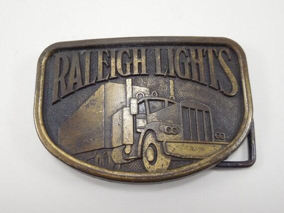Semi Trucker Tractor Trailer Vintage Belt Buckle
