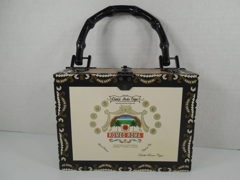 1899241731 Vintage Cigar Box Purse Handbag Romeo Roma Cardboard Cigar Box
