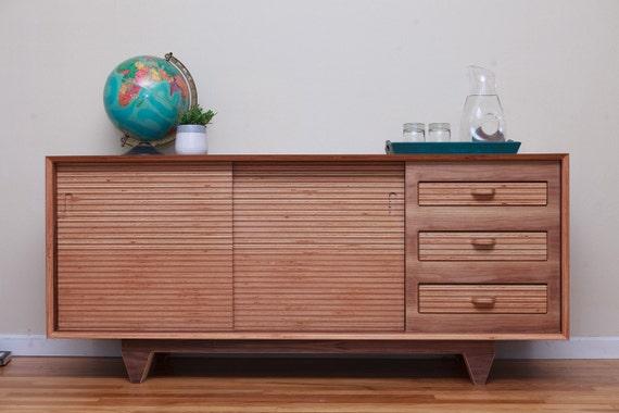Mid Century Modern Walnut Wood Sideboard | Buffet | Sideboard | Mid Century Modern Sideboard | Modern Sideboard