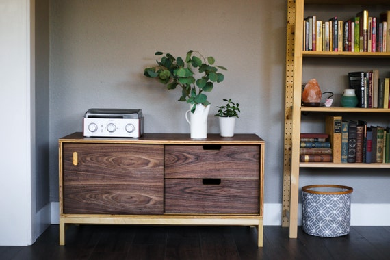 Media Cabinet | Record Cabinet | Mid Century Modern Media Cabinet | Mid Century Modern Record Cabinet | Modern Media Cabinet
