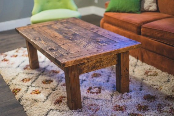 Farmhouse Coffee Table | Rustic Coffee Table | Coffee Table | Farmhouse Coffee Table