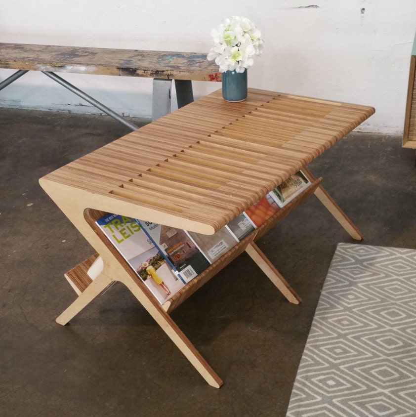 Mid Century Coffee Table Shown In Baltic Birch Coffee