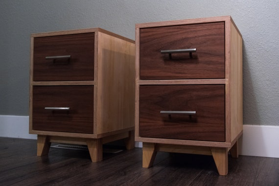 Pair of Mid Century Modern Nightstands | Mid Century Modern Nightstands | Pair of Side Tables | Pair of End Tables