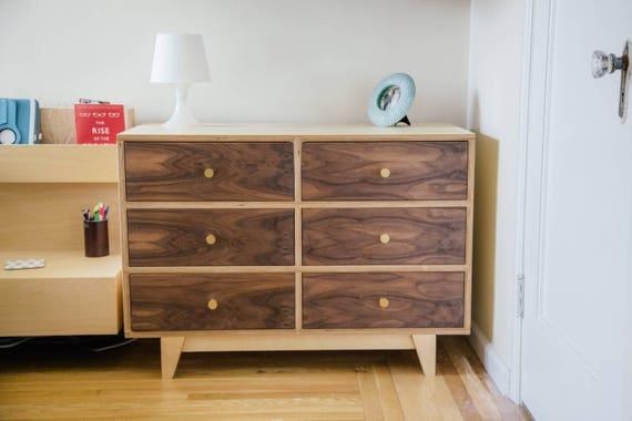 Mid Century Modern Dresser | Modern Dresser | Minimalist Dresser | Walnut Dresser